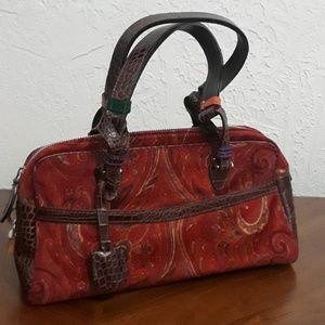 Beautiful Etro Red Paisley Handbag ♥